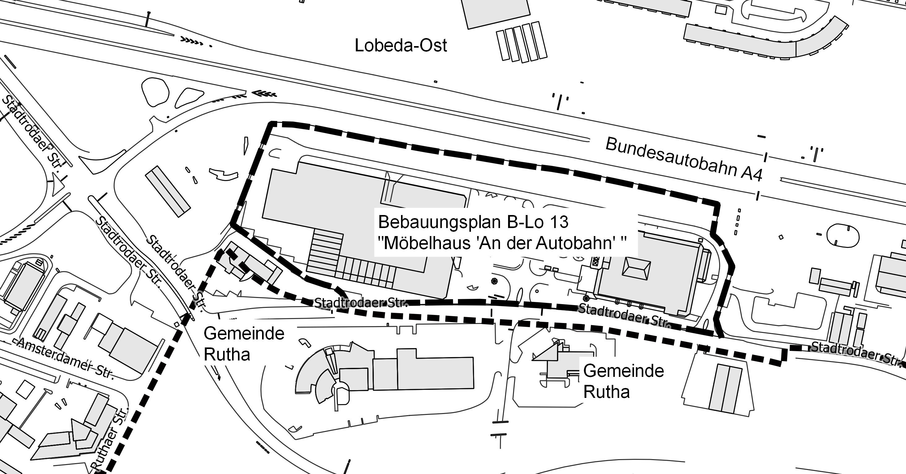 Bebauungsplan B Lo 13 Mobelhaus An Der Autobahn Vorentwurf